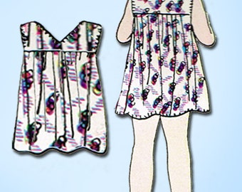 1920s Vintage Simplicity Sewing Pattern 440 FF Baby Girls Bloomer Dress Sz 1 1/2