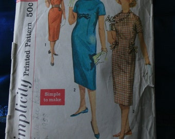 1960s Simplicty 2628 teen age one-piece dress size 10