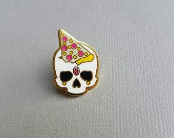 Pizza Skull 3 - Hard Enamel Pin