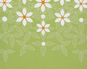 Japanese Tenugui Cotton Towel Fabric, Hand Dyed Fabric, Gardenia, Flower, Floral Pattern, Botanical, Wall Art Hanging, Scarf, Headband, a180