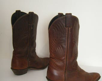 Whisky Brown vintage Code West COWGIRL BOOTS, size 10