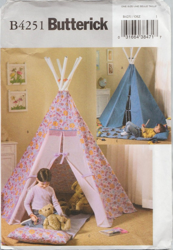 Butterick 4251 out of print sewing pattern oop tee pee for Simplicity craft pattern 4993