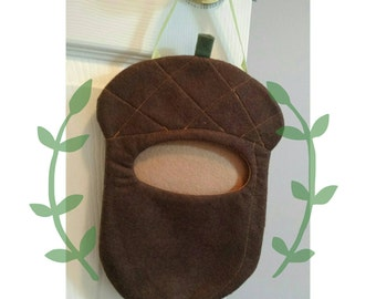 Chocolate Brown Acorn Home for your Tooth Fairy Pillow or Plushie