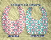 Newborn bib pattern (S128), Baby pattern, Baby bibs, Baby patterns sewing, Bib sewing pattern, Infant bib pattern