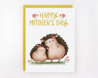 Happy Mother's Day - Hedgehog Mom