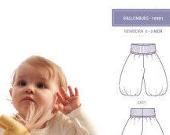 Minikrea 10301 Balloon Trousers Sewing Pattern for Baby Dänish Design
