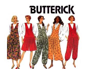 90s Maternity Drop Waist Dress & Jumpsuit Pattern Butterick 5660 Size 14 16 18 UNCUT Factory Folds Bust 36 38 40