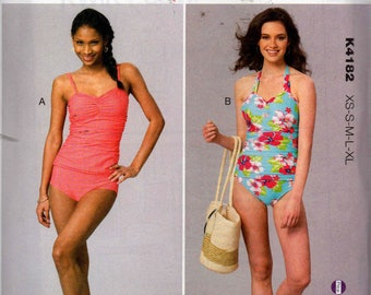 Kwik Sew K 4182 Swimsuits Pattern One or Two Piece Bathing Suits Sewing Pattern Size X small - X Large UNCUT Factory Folded