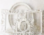 Shabby Chic White Wedding Frame Collection. Rococo Picture frames. Handpainted Wall Frames. Distressed Nordic White.  French Country Decor