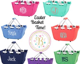 Monogrammed Easter Basket, Personalized Easter Basket, Kids Easter Basket, Easter Bucket, boys easter basket, girls easter basket