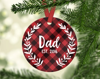 New Dad Ornament Pregnancy Announcement to Husband Baby Shower Gift Dad New Dad Gift Personalized Christmas Ornament Christmas Gift for Dad