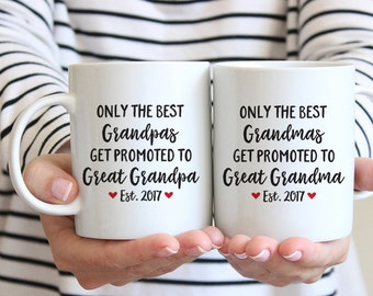 Great Grandparents Gift Pregnancy Announcement Great Grandma Gift Mug Great Grandparents Pregnancy Reveal Great Grandpa Gift Custom Red Mug