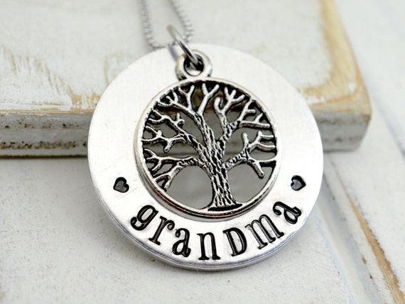 Grandmothers Necklace, Personalized Grandma Necklace, Gift for Nana, Personalized Jewelry, Grandma Gift, Family Tree Necklace, Gift for Mom