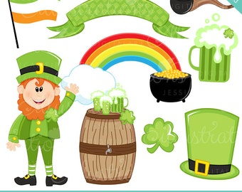 Lucky Leprechaun Cute Digital Clipart - Commercial Use OK - St. Patricks Day Graphics, St. Patricks Day Clipart