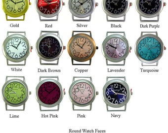 Round Solid Bar Watch Face for Interchangeable Bracelet Watch