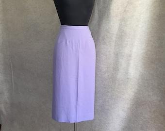 Vintage 60s Skirt, Lavender Straight Skirt, Wool Flannel Skirt, Small, Waist 26, Hip 38,  50's Style Pencil Skirt, Wiggle Skirt, SALE
