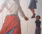 Simplicity 7699 Vintage 1970's Reversible Wrap Around Skirt Pattern -Wrap Around Maxi Skirt Pattern -Tie Waist Skirt Pattern Size 12-14 Med