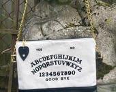 MADE TO ORDER, Spirit Board Bag, Ouija Board Bag, Occult Bag, Leather Crossbody Bag