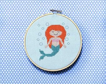 Девушка и море вышивка скачать