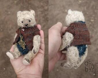 Poddle, OOAK  Mohair Artist Teddy Bear  from Aerlinn Bears