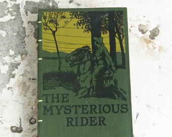 1921 MYSTERIOUS RIDER Vintage Lined Notebook Journal