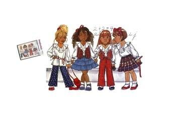 Vintage 90's Butterick Busybodies 6931 Sewing Pattern Girls Vest Girls Blouse Girls Skirt Pattern Girls Pants Pattern Girls Size 5 6 6X