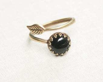 Black Onyx Ring Red Stone Ring Crazy Lace Agate Ring Blue Ring Gemstone Ring Leaf Ring Stone Leaf Ring Blue Sodalite Ring