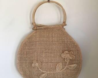 vintage sisal purse - Bloom oversized mesh straw bag