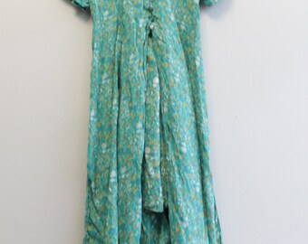 Vintage Button Down Maxi 90s Floral Dress by Some Times