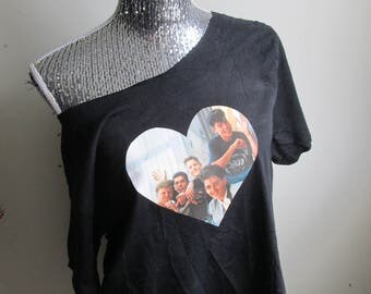 New Kids On The Block Off The Shoulder Tee Shirt Top