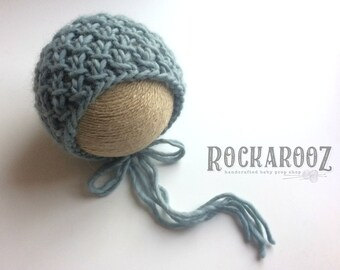 Ready to Ship Chunky Wool Thatcher Bonnet - Newborn Photography Prop
