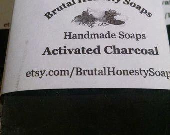 Soap Activated Charcoal Scented Sweet Orange 4.5 oz bars Moisturizing non detergent