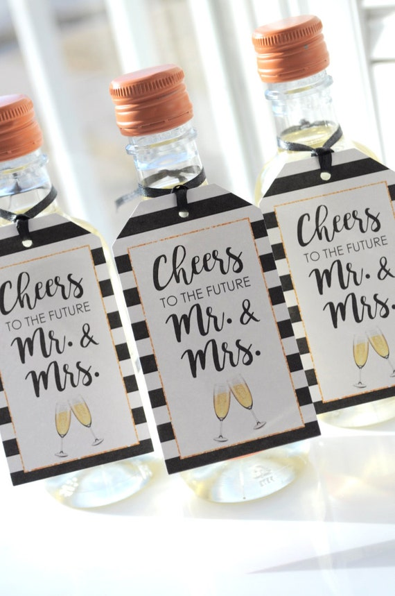 Like this item Mini Wine Bottle Favor Tags Bridal Shower Mini Champagne. Mini Wine Bottle Favors For Weddings. Home Design Ideas
