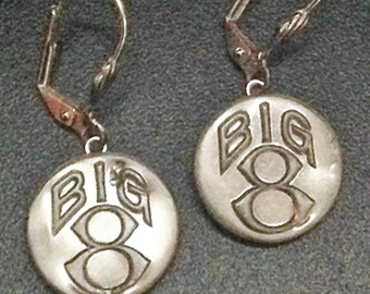 Big 8 Overall Button Earrings