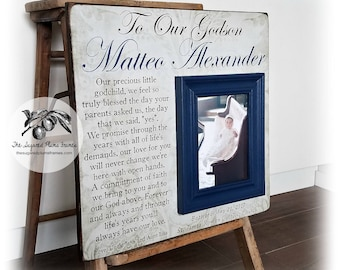 Baptism Gift, Baptism Gift Boy, Baptism Gift Girl, Goddaughter Gift, Christening Gift, Godson Gift, Baptism Frame 16x16 The Sugared Plums