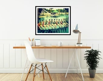 Swim Photograph SWIM TEAM 8x10 beach decor art swimmers gift, swim print vintage 1920s old Florida vintage coastal decor, silver springs art