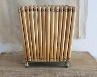 Vintage Small Square Bamboo Planter