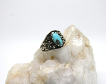 Hawk Turquoise Silver Ring 6