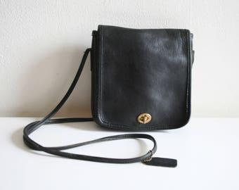 Black Square Leather Purse