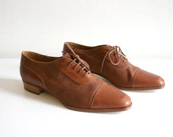 Italian Linen Oxford Shoes 8