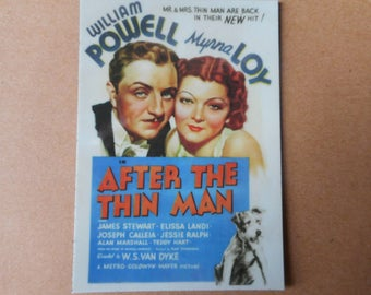 Magnet- After The Thin Man movie  William Powell Myrna Loy James Stewart Nick and Nora Charles