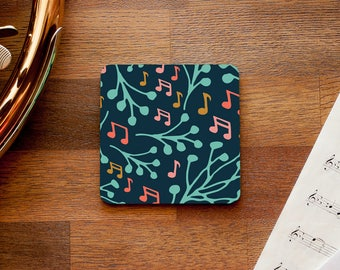 Music Notes and Branches Themed Coaster