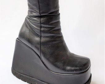 HEX Italy rave cult Platform Boots   size  uk3-4  us5-6