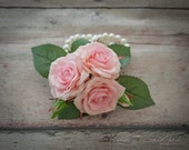 Wedding Corsage - Silk Pink Rose Pin Corsage