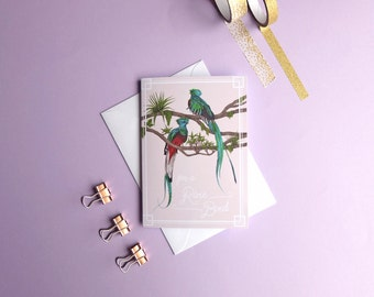Rare Bird Card // Just to Say Cards - Quetzal - Cards for Mom - Mum Card - Mom Card - Blank Greeting Card - Just Because Cards