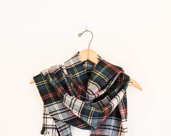 JCREW plaid wool blanket scarf - red green yellow black infinity scarf