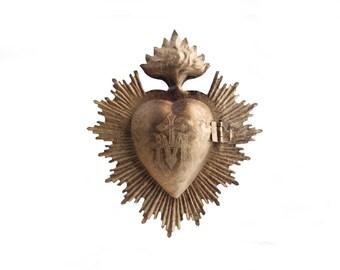 Heart Milagro, Sacred Heart, Gold Heart Box