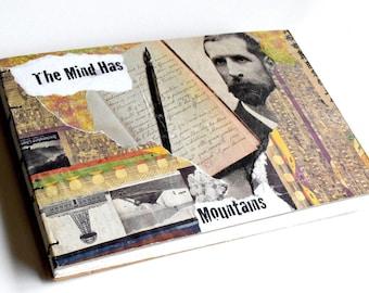 Collaged Sketchbook, Handmade Sketchbook, Coptic Stitch Sketchbook