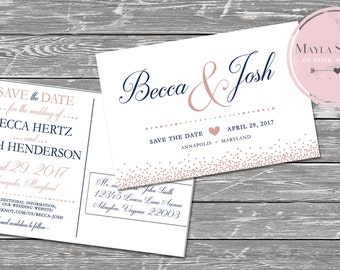 Blush Save the Date Postcard
