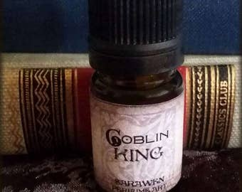 GOBLIN KING Perfume Oil / inspired by Labyrinth perfume cologne / Woods and Amber scent / Vegan perfume oil